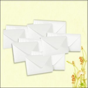 10 Frost White Mini Pearlescent Wallet Envelopes