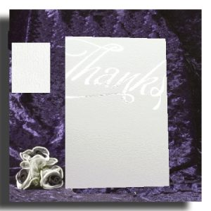 Textured 'Thanks' Cards