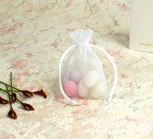 Voile White Sheer Favour Bag 7 x 10cm