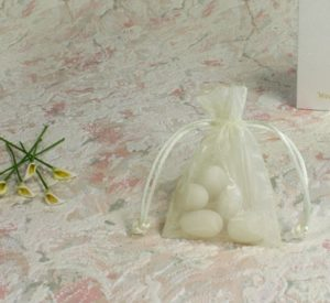 Voile Ivory Sheer Favour Bag 7 x 10cm