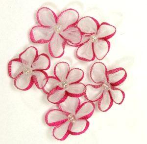 Ribbon Edged Sheer Flowers