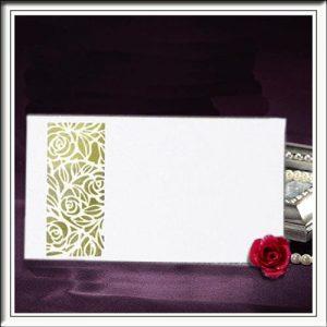 Lattice Rose Laser Cut Rose Wedding Name Place Cards