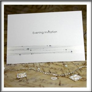 Silver Strands and Diamantes Laser Cut Evening Invitations