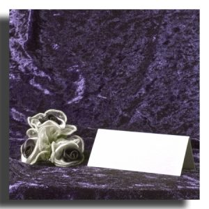 White Textured Wedding Name Place Cards