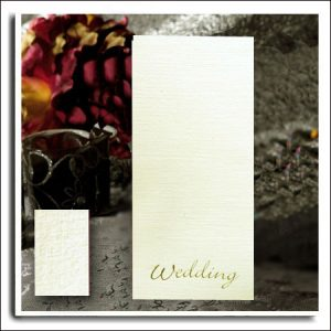Ivory Linen Wedding Cards