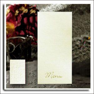 Ivory Linen Wedding Menus