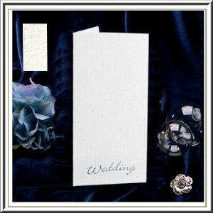 White Linen Wedding Invitation Cards