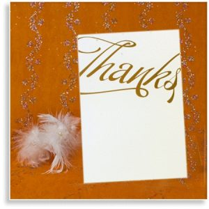 Textured Textured Wedding 'Thanks' Cards