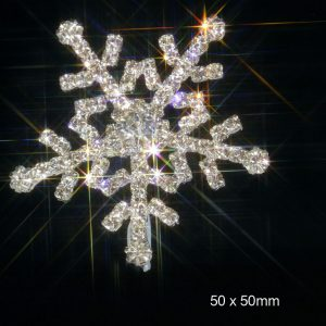 Diamante Snowflake Embellishment For Winter Weddings LARGE