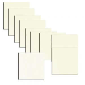 Frost White Double Sided Pearlised Paper Inserts 135 x 135 mm