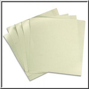 Silver Pearlised Double Sided Paper Inserts 135 x 135 mm
