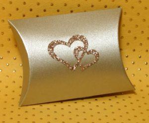 Gold Essence Pillow Favour Boxes