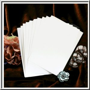 10 Order of Service Inserts for White Texture/Cotton White/Composition