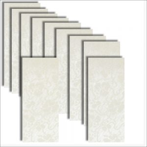 Dandy White Broderie Card Insert DL Size 1 (Large)
