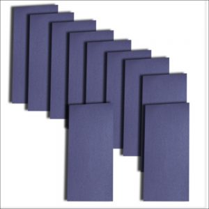 Kings Blue Pearlised Card Insert DL Size 1 (Large)
