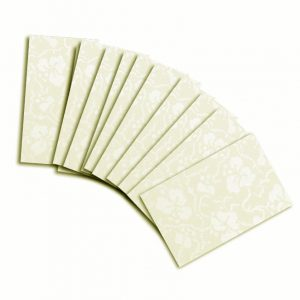 Ivory (Off White) Broderie Card Insert For Mini Pocket (Small)10