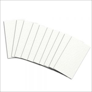 Frosty White Pearlised Insert Card for Mini Pocket (Small)
