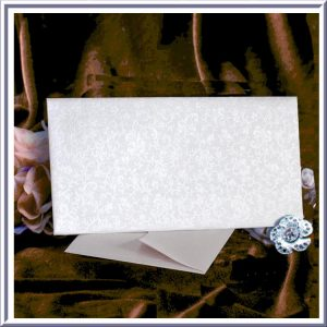 10 Tapestry Dandy White Applique DL Envelopes