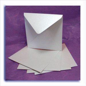 Dandy White Broderie Square Envelopes Pack of 10