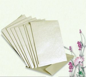 Ivory (Cotton White) Applique Mini Wallet Envelope Pack of 10