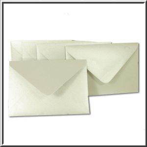 C6 Silver Pearlised Envelope 120gsm 10 per pack