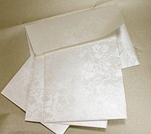 Tapestry Ivory Broderie C6 Self Seal Envelopes 10 pk