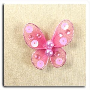 Small Sequin/Pearl Butterfly