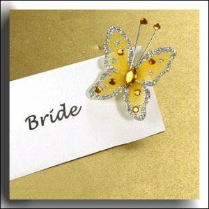 Gold & Silver Glitter Butterfly