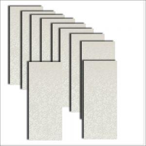 Cotton White Applique DL Card Insert Size 1 (Large)