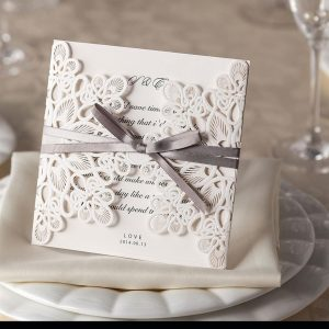Ribbons and Lace Laser Cut Invitations