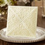 LILY' Square Floral Laser Cut Invitations Envelope Style