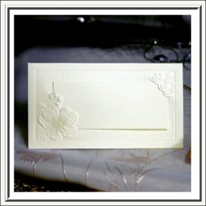 Lace and Pearls Name Place Table Cards