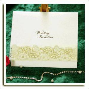 10 Ivory Dream Laser Cut Wedding Invitations Silver Embossed