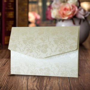 10 Ivory (Off White) Broderie A6 Pocketfold Invitations