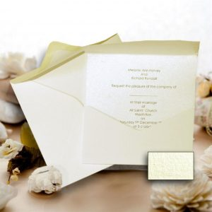 JAYANTI Square Ivory Silkweave Pocketfold (Portrait) NO Flap