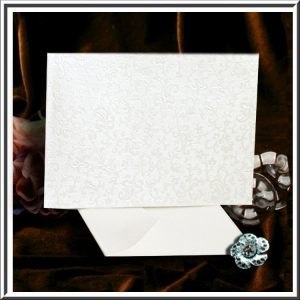 Tapestry Dandy White Applique C6 Self Seal Envelopes 10 per pack