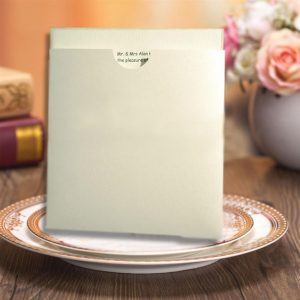 10 White Shimmer Pearlescent Square Wedding Wallets