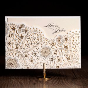 50 Veronica Landscape Lace Openwork personalised Wallet With Gold Foil Embossing £3.35 each