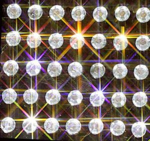 100 2.5mm Clear Self Adhesive Round Crystals