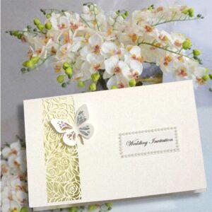 10 Lattice Rose Wedding Invitation + Personalised printing