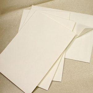 10 Classic Ivory Textured C6 Envelopes