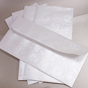 10 Dandy White Broderie DL Envelopes Self Seal