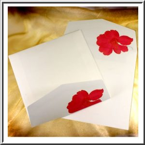 10 Floral Printed Square Envelopes