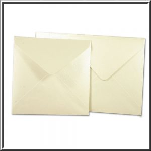 10 Square Pearlescent Quarzo Envelopes