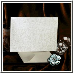 10 Tapestry Ivory Cotton White Applique C6 Self Seal Envelopes