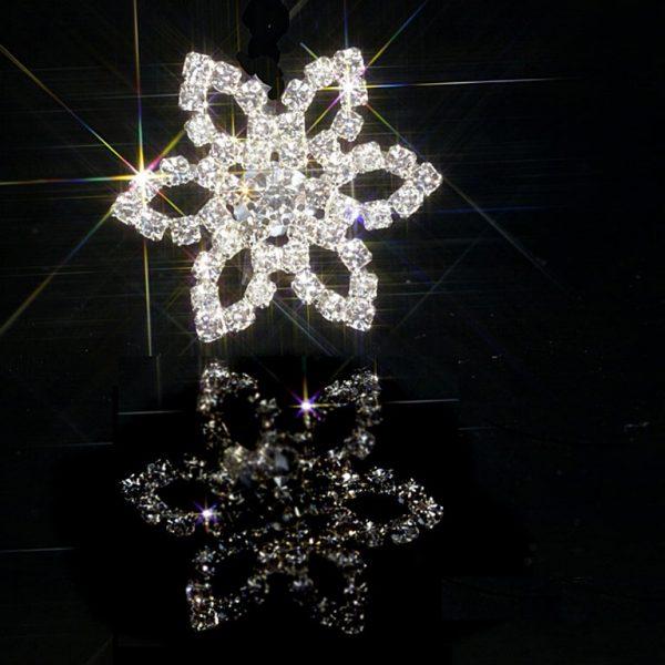 10 Large Flower Diamante Embellishments Rhinestone Crystals