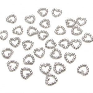 Pearl Heart Shaped Beads