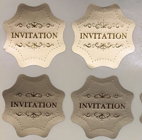 10 Petals White with light gold shimmer Laser Cut Wedding Invitations Now with Gold Envelope Seals