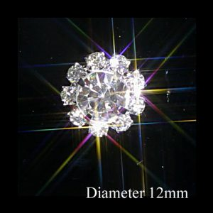 Small Round Diamante Embellishments Large Centre Rhinestone 12mm