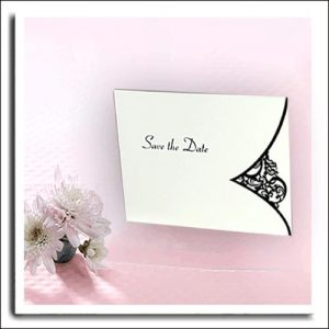 10 Black Laser Cut Save the Date